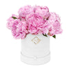 Luxury Fiore - Velvet White Hatbox w' Draw