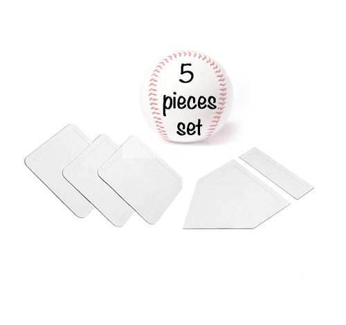 BBT-01 set of rubber baseball playing accessories, one size, white