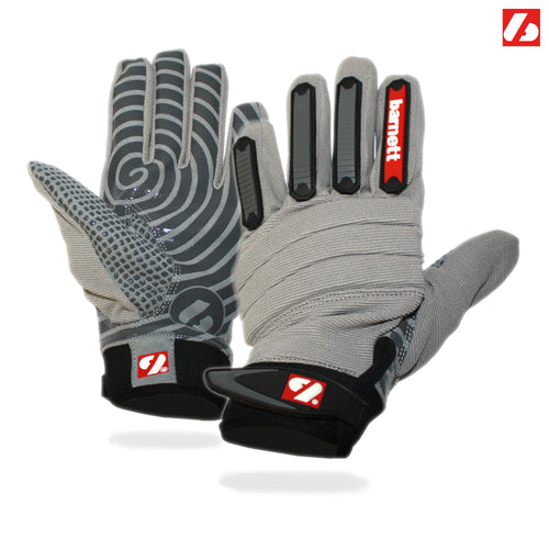 FKG-02 linebacker football gloves, LB, RB, TE, Gray