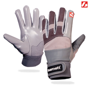 FRG-01 Football gloves for receiver, with grip, grey