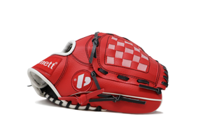 "JL-105, REG baseball glove, outfield, polyurethane, size 10,5"", RED"