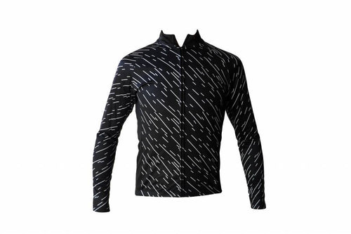 Bike textile - long sleeved jacket, black windbreaker