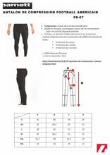 Load image into Gallery viewer, FS-07 Compression pants, 5 integrated pieces, for American football
