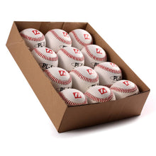 "Load image into Gallery viewer, PL-1 Elite match baseballs, Size 9"" White, 1 dozen"