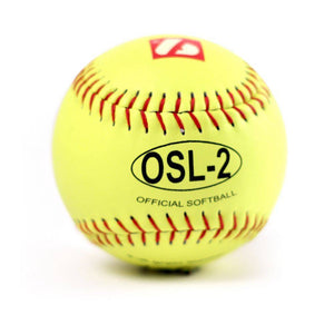 "OSL-2 Competition softball, size 12"", yellow, 1 dozen"
