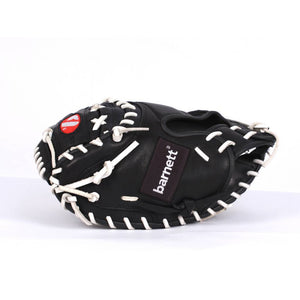 GL-201 Competition catcher baseball glove, genuine leather, adult 34, Black