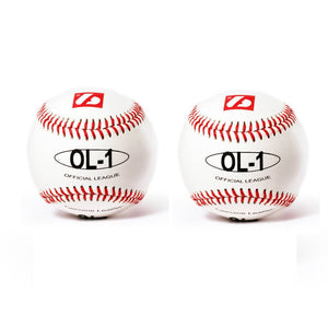 "OL-1 Competition baseballs, Size 9"" White, 2 pieces"