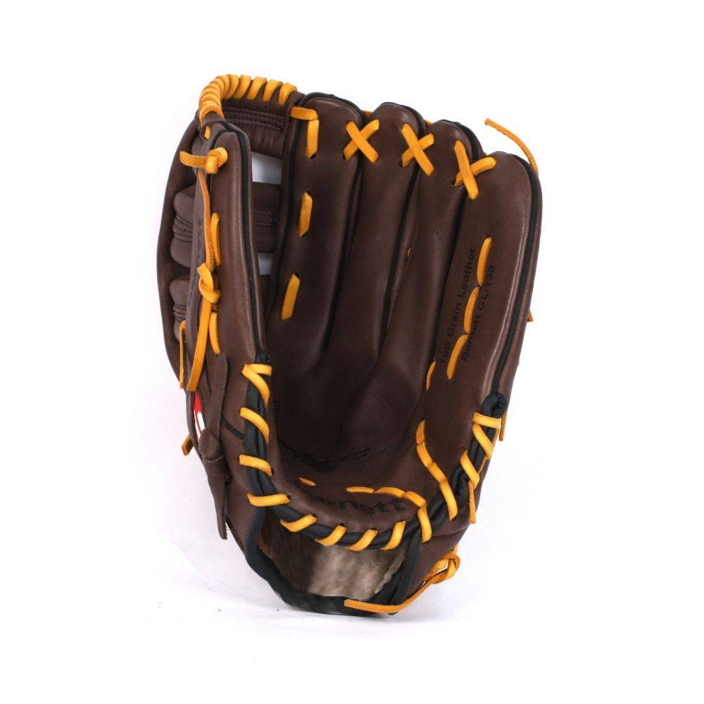 GL-127 Competition baseball glove, genuine leather, outfield 12.7, Brown