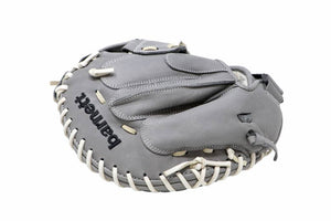 FL-201  baseball glove, high quality, leather, catcher, light grey