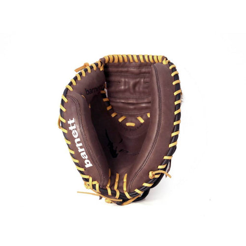 GL-202 Competition catcher baseball glove, genuine leather, adult 34, Brown