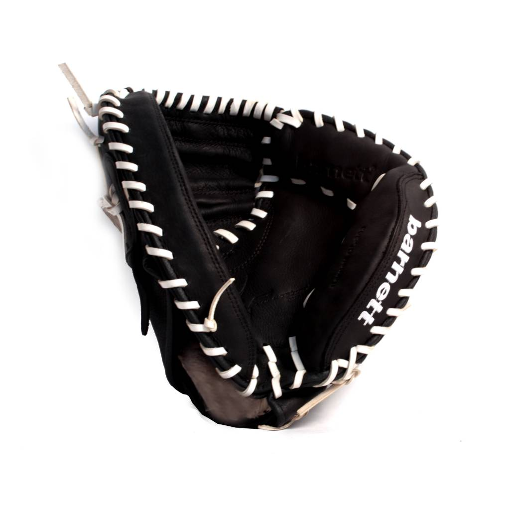 GL-203 Competition catcher baseball glove, genuine leather, adult 34, Black