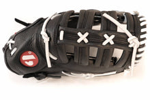 Load image into Gallery viewer, GL-301 reg competition 1er baser baseball glove, genuine leather, adult, black