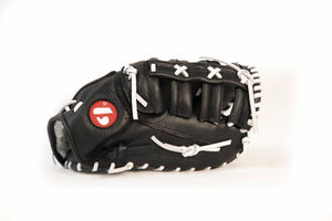 GL-301 reg competition 1er baser baseball glove, genuine leather, adult, black