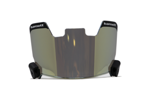Barnett Football Eyeshield / Visor, eyes-shield, gold