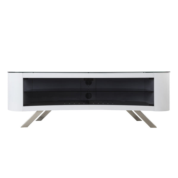 "AVF Bay Affinity Curved 1500 TV Stand for TVs up to 70"", Gloss White"