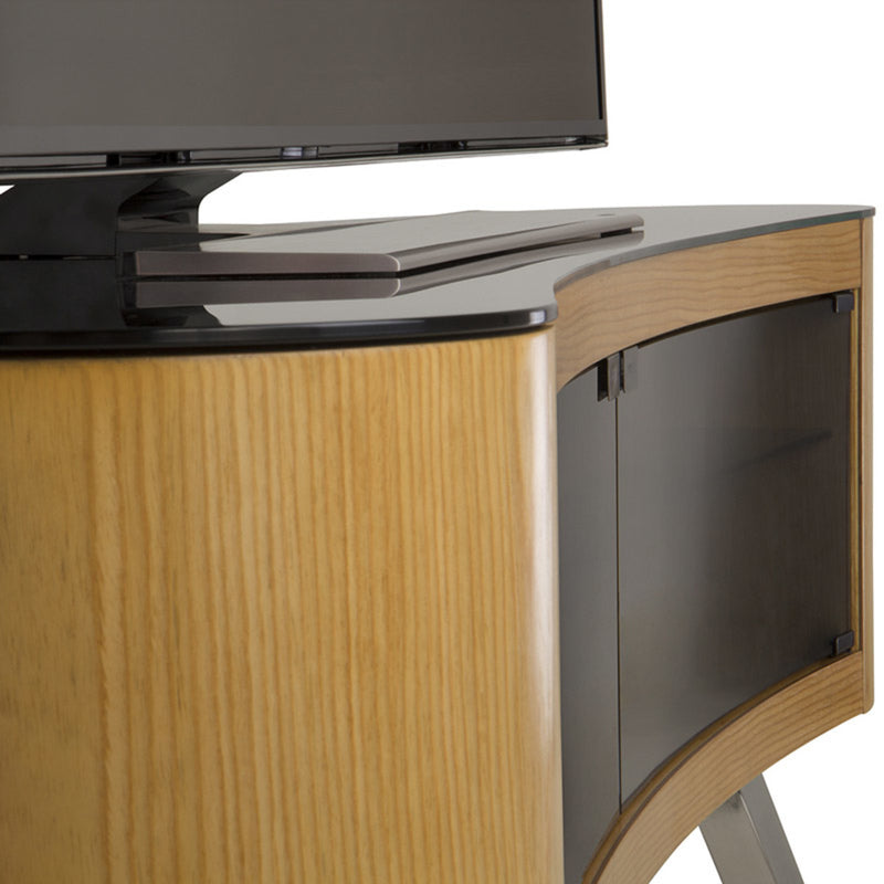 "AVF Bay Affinity Curved 1500 TV Stand for TVs up to 70"", Oak"