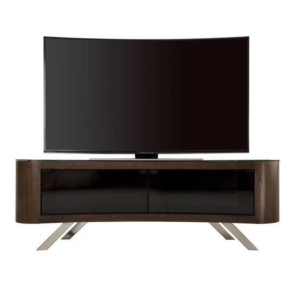 "AVF Bay Affinity Curved 1500 TV Stand for TVs up to 70"", Walnut"