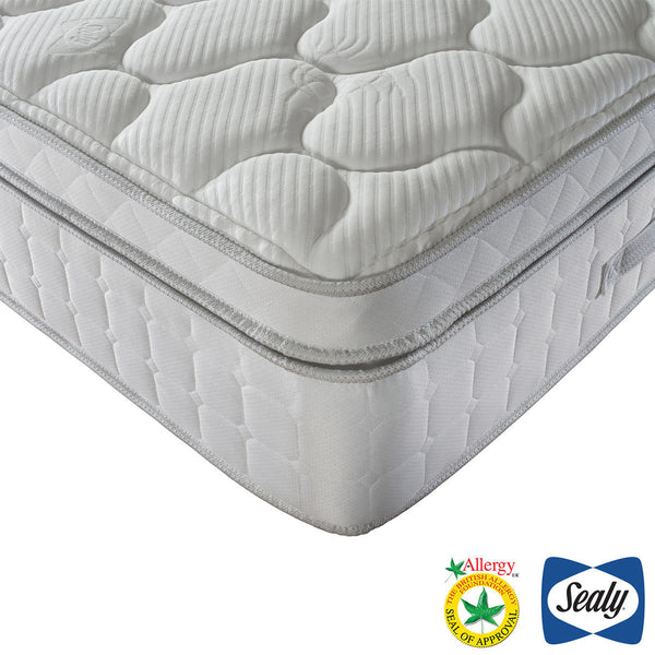 Sealy Prestige 1400 Pocket Latex Mattress, Double Pocket Spring  - Greater 'push back' for exceptional comfort and pressure relief  - Hypoallergenic