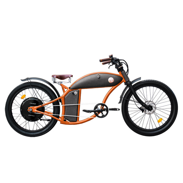 Rayvolt Cruzer V3 E-Bike with Lights, Rear View Mirrors, Leather Bag, Set Up Ass