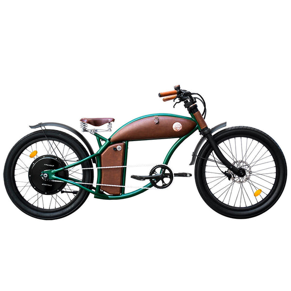 Rayvolt Cruzer V3 E-Bike with Lights, Rear View Mirrors, Leather Bag,