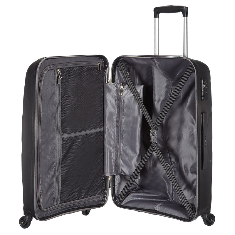 American Tourister Bon Air 3 Piece Hardside Suitcase Set, Black
