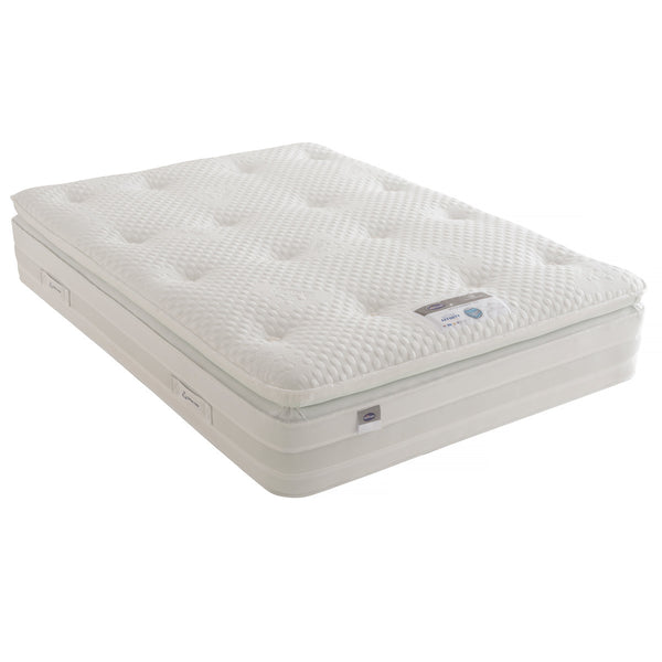 Silentnight Geltex 1850 Mattress, Double  (135 x 190 cm)  - Comfort Rating: Medium / Soft  - Mattress Depth: 34 cm  - Geltex® Comfort Layer and Pocket Springs.