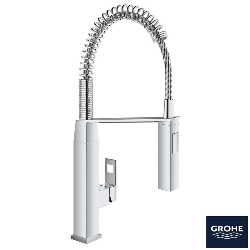GROHE Eurocube Single-Lever Spring Mixer Tap in Chrome - Model 3139500