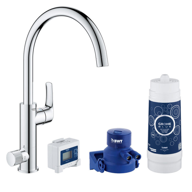 GROHE Blue Pure Eurosmart Home Filter Tap Starter Kit in Chrome - Model 30383000