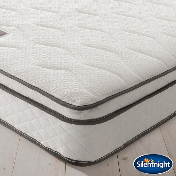 Silentnight 1200 Pocket Memory Cushion Top Mattress, Single Memory Foam & Pocket Springs  - Hypoallergenic