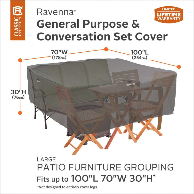 Classic Accessories Ravenna Large General Purpose Patio Furniture Set