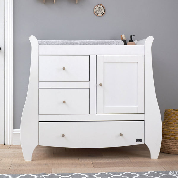Tutti Bambini Katie Chest Changing Unit in White