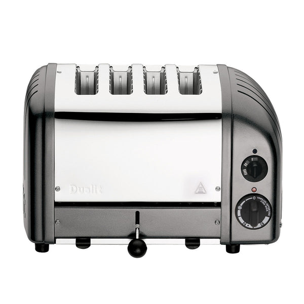 Dualit 4 Slot Classic Toaster With Sandwich Cage, Metallic Charcoal 40