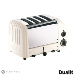 Dualit 4 Slot Classic ToaTOASTERster With Sandwich Cage, Canvas White 40592