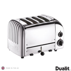 Dualit Classic 4 Slot Toaster With Sandwich Cage, Polished Stainless S