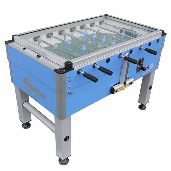 "Roberto Sport 4ft 4"" Summer Cover Coin Operated Outdoor Football Table"