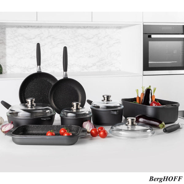 BergHOFF Eurocast Non-stick 11 Piece Cookware Set cook lightweight