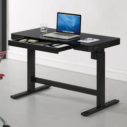 Tresanti Power Adjustable Height Tech Desk, Black