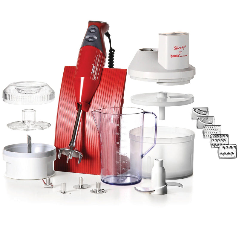 Bamix Superbox Hand Blender Set, Red