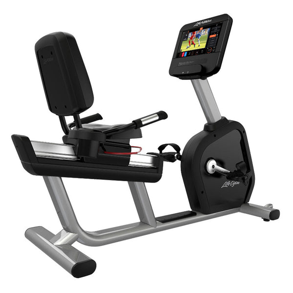 Installed Life Fitness Commercial Grade Intensity Recumbent Bike with