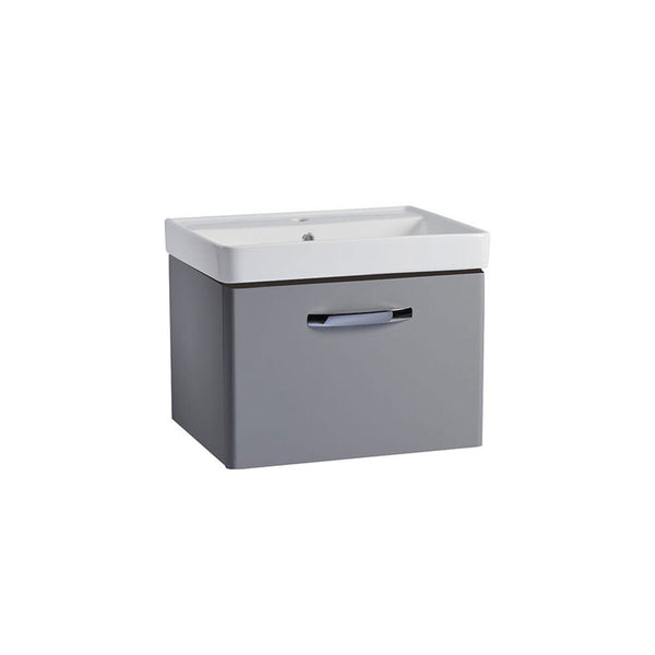Tavistock Curve 600mm Wall Mounted Vanity Unit in Grey