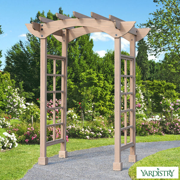 "Yardistry 7ft 6"" (2.29m) Backyard Cedar Arbour Arbors"