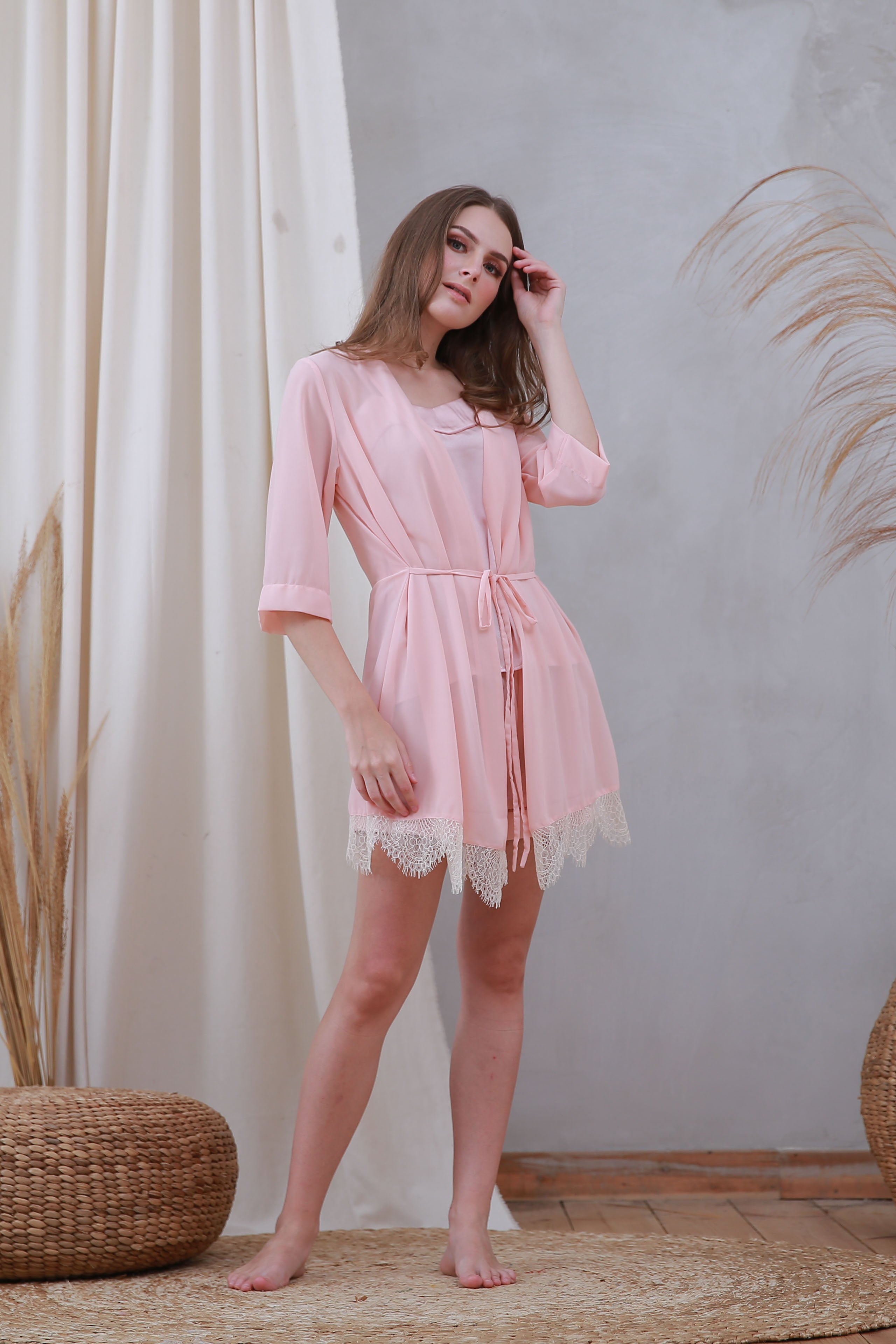 Amber Robe Pink Flamingo