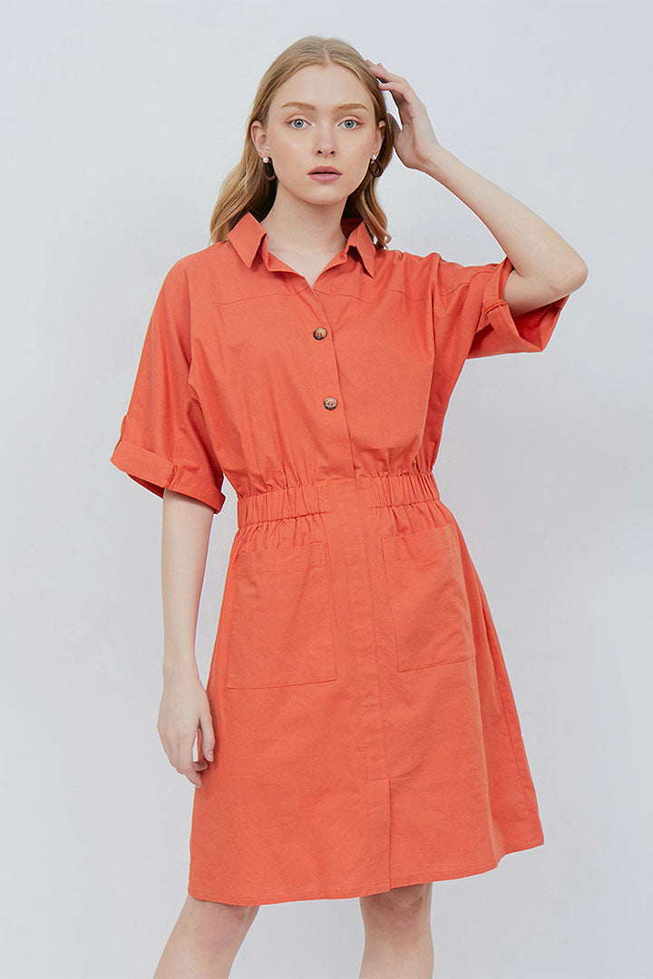 Angel Dress in Tangerine
