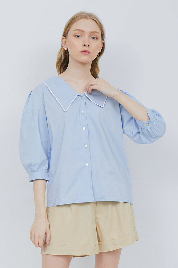 Gillian Top in Sky Blue