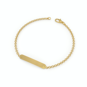 Engravable Bar ID Bracelet