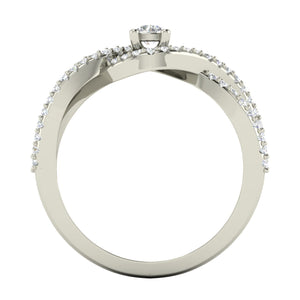Alexis Twisted Pavé Ring