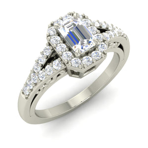 Chantel Emerald-Cut Split Halo
