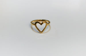Heart Shaped Stacking Ring