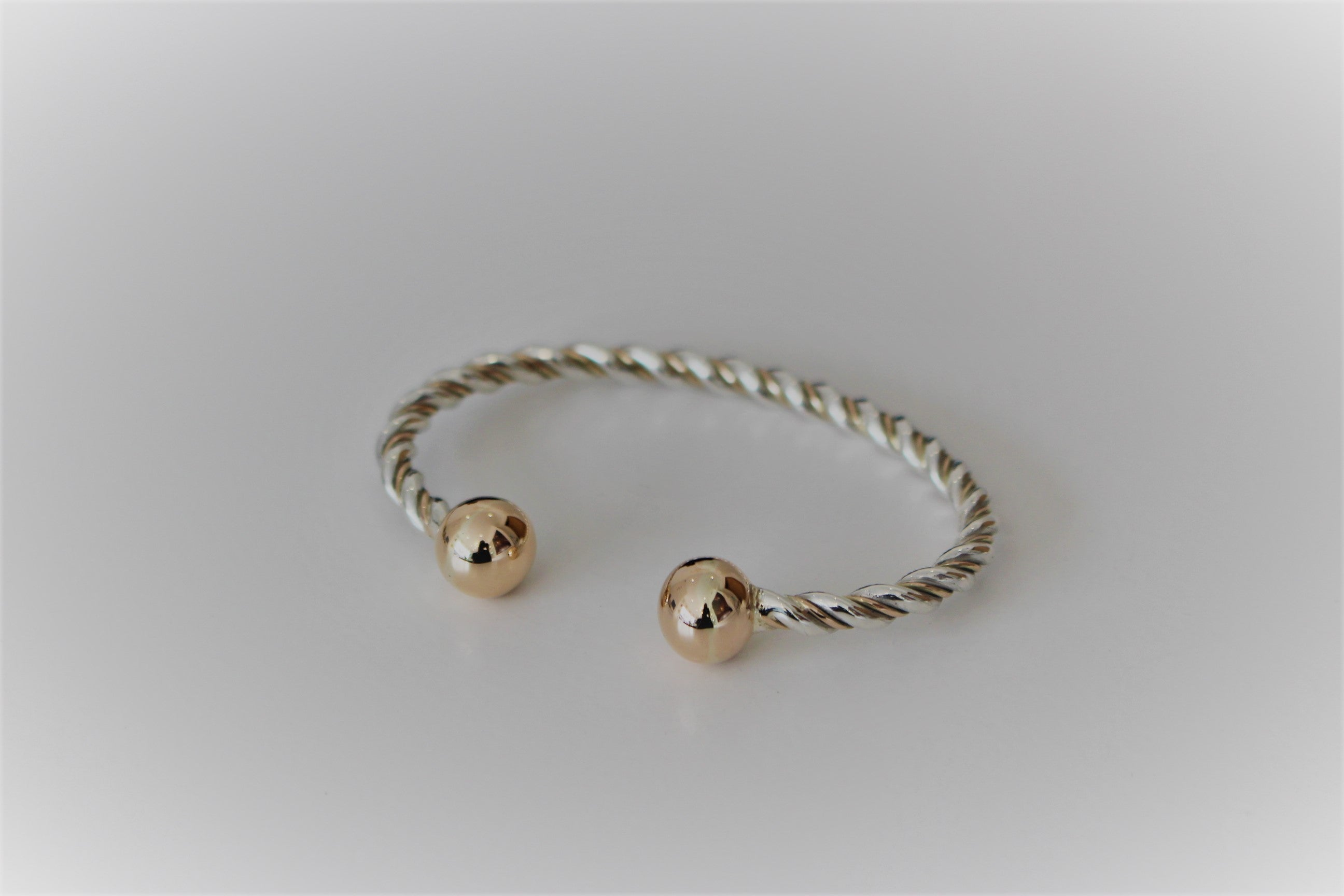Duo-Tone Twisted Bangle