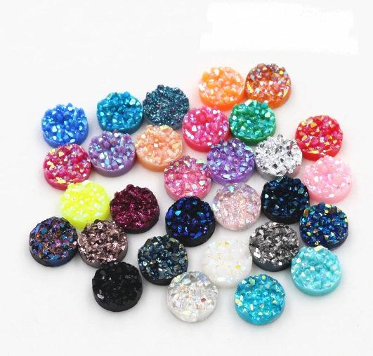10mm Resin Druzy Cabochons,